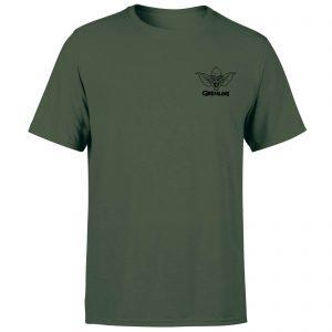 Gremlins Stripe Pocket Men's T-Shirt – Forest Green – XS