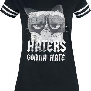 Grumpy Cat Haters Gonna Hate T-Shirt Black