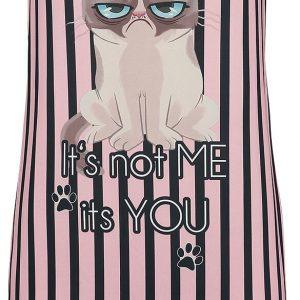 Grumpy Cat It's Not Me It's You Nightshirt Pink Black