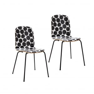 Habitat Kirby Pair Of Bentwood Dining Chairs – Two Tone