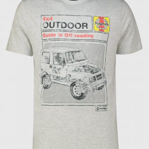 Haynes Grey Marl Crew Neck T-Shirt – S