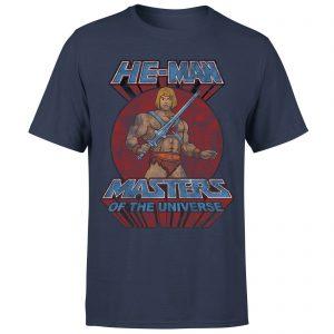 He-Man Distressed Men's T-Shirt – Navy – XS – Navy