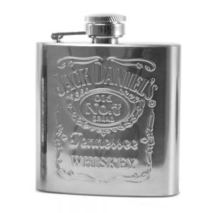 Jack Daniel's No. 7 Stainless Steel Hip Flask