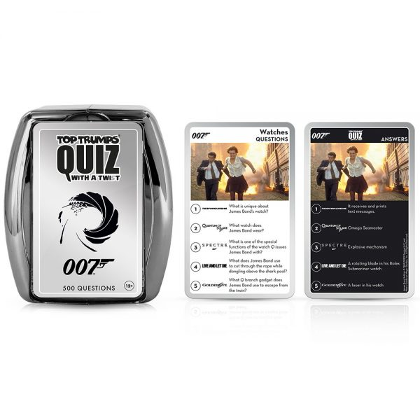 James Bond 007 Top Trumps Quiz Gift Set By Moonpig - Delivery Available