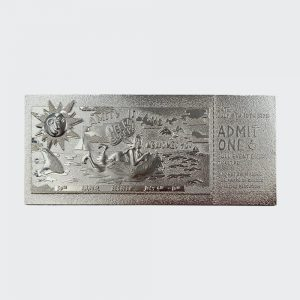 Jaws Amity Island Silver Plated Ticket – Just 5000 Worldwide