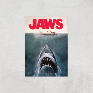 Jaws Giclee Art Print – A4 – Print Only