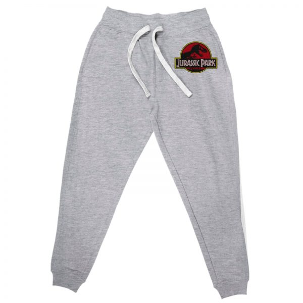 Jurassic Park Embroidered Unisex Joggers - Grey - S