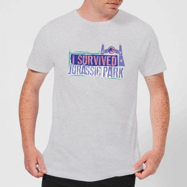 Jurassic Park I Survived Jurassic Park Men's T-Shirt - Grey - XS - Grey