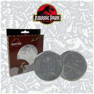 Jurassic Park Metal Drinks Coasters