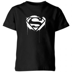 Justice League Graffiti Superman Kids' T-Shirt – Black – 3-4 Years – Black