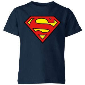 Justice League Superman Logo Kids' T-Shirt – Navy – 3-4 Years – Navy