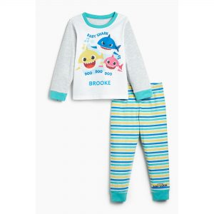 Kids Unisex Baby Shark Personalised Pyjamas