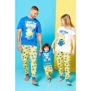 Kids Minions Unisex Personalised Family Pyjamas