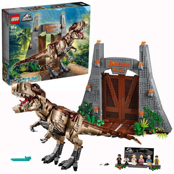 LEGO Jurassic World T. rex Rampage Park Set 75936