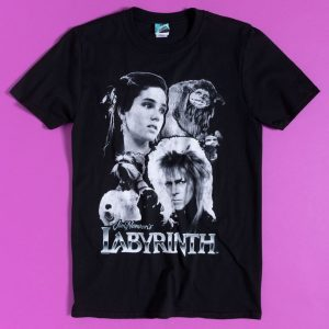 Labyrinth Black And White Compilation Black T-Shirt
