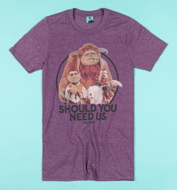 Labyrinth Should You Need Us Purple Marl T-Shirt