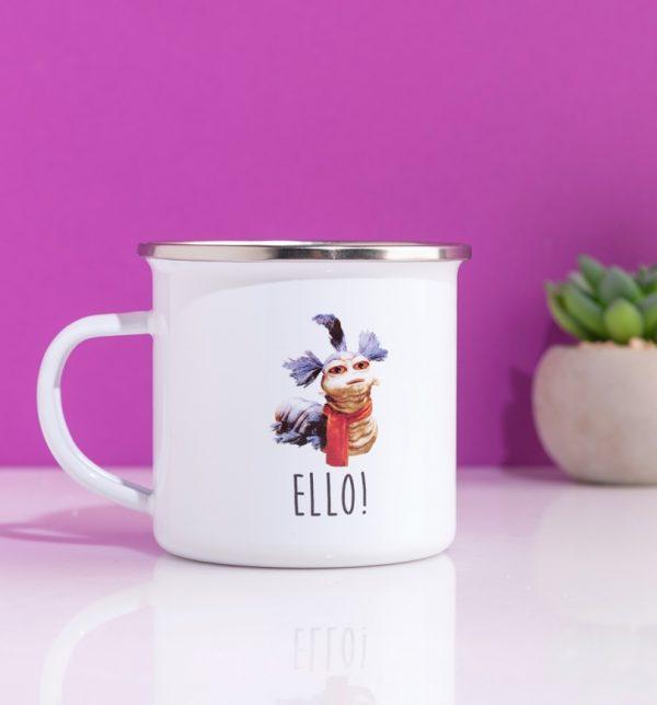 Labyrinth Worm Cup Of Tea Enamel Mug