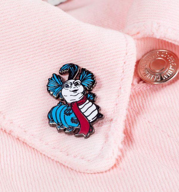 Labyrinth Worm Pin Badge