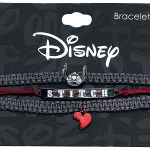 Lilo & Stitch Stitch Skeleton Bracelet Set Black Red