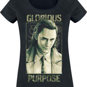 Loki Glorious Purpose T-Shirt Black