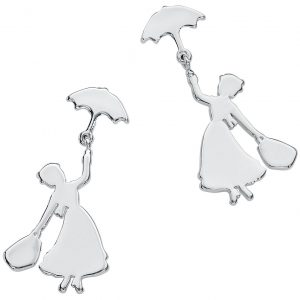 Mary Poppins Disney By Couture Kingdom – Flying Earring Set Silver Coloured