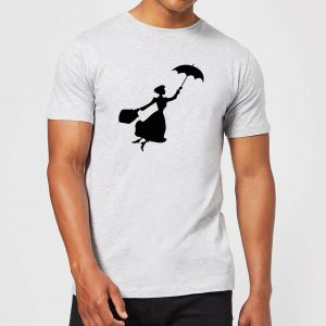 Mary Poppins Flying Silhouette Men's T-Shirt – Grey – S – Grey