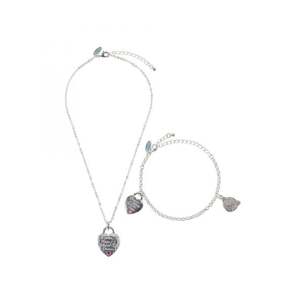 Me To You Heart Bracelet and Pendant Necklace Set
