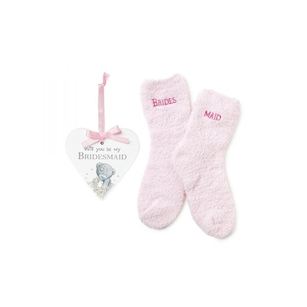 Me to You Bridesmaid Plaque and Sock Set