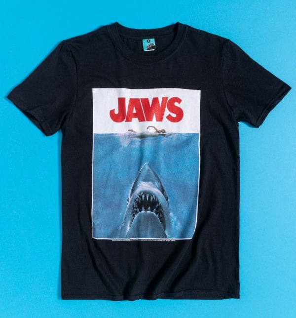 Men's Jaws Shark Black T-Shirt