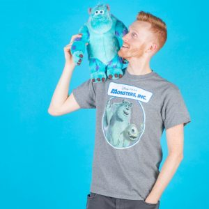 Men's Monsters Inc We Scare Because We Care Grey T-Shirt