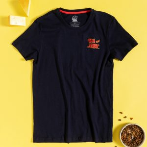 Men's Navy Tom And Jerry Back Print Mini Me T-Shirt From Difuzed