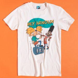 Men's Nickelodeon Hey Arnold Ecru T-Shirt