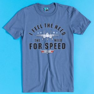 Men's Top Gun Need For Speed Indigo Blue T-Shirt