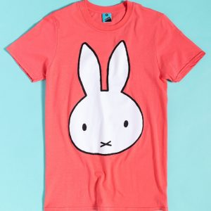 Miffy Face Print Coral T-Shirt