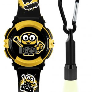 Minions Kid's Black Plastic Strap Watch