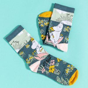 Moomin Moomintroll And Snorkmaiden Scene Socks