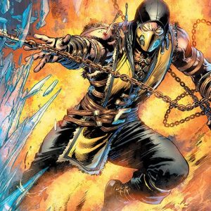 Mortal Kombat Scorpion Poster Multicolour