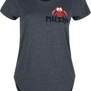 Mulan Mushu T-Shirt Mottled Charcoal