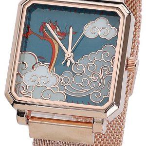 Mulan Mushu Wristwatches Gold Coloured