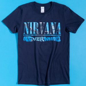 Navy Nirvana Nevermind T-Shirt With Back Print