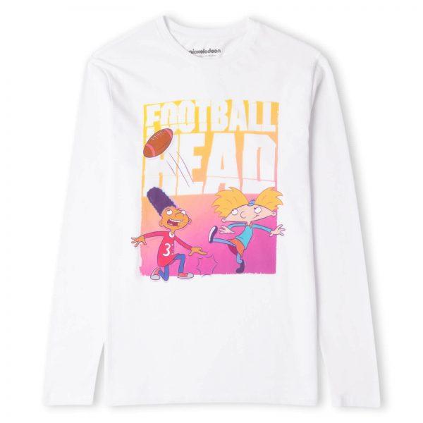 Nickelodeon Hey Arnold Football Head Men's Long Sleeve T-Shirt - White - XS - White