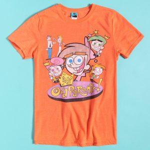 Nickelodeon The Fairly OddParents Orange Marl T-Shirt