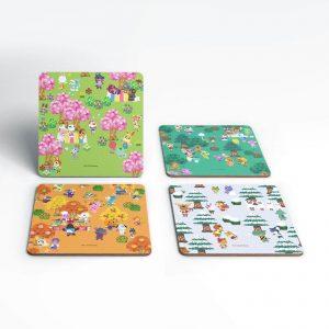 Nintendo Animal Crossing Seasonal Coaster Set