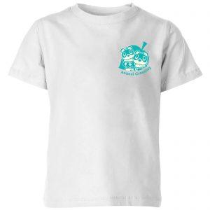 Nintendo Animal Crossing Timmy & Tommy Pocket Kids' T-Shirt – White – 3-4 Years