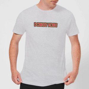 Nintendo Donkey Kong Distressed Men's Light Grey T-Shirt – YL – Light Grey