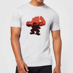 Nintendo Donkey Kong Silhouette Serengeti Men's Light Grey T-Shirt – YL
