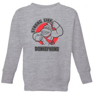 Nintendo Donkey Kong Strong Like Donkey Kong Kids' Sweatshirt – Grey – 3-4 Years – Grey