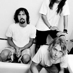 Nirvana Bathroom Poster Black White