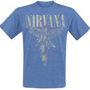 Nirvana In Utero T-Shirt Mottled Blue
