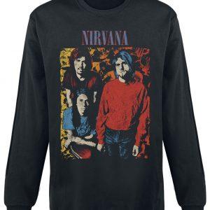 Nirvana Painting Long-sleeve Shirt Black